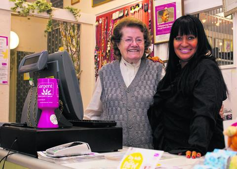 Sheilah Robinson, left, with Sharon Walton, manager of the Clic Sargent charity shop in Headington. Picture: OX54025 Greg Blatchford