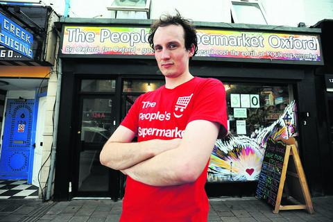 People's Supermarket manager Chris Waites outside the Cowley Road store Picture: OX54125 Richard Cave