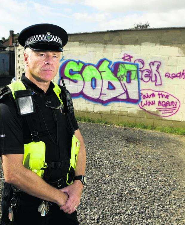 Pc Gordon Richardson at the wall