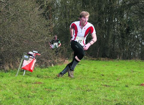 Thames Valley Orienteering Club member Alex Fulbrook  orienteering at Shotover Park this summer