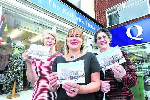 Store manager Jo Spinks, pictured centre, with volunteers, Pat Nash, left, and Margaret Griffiths. Picture: OX54165 Jon Lewis