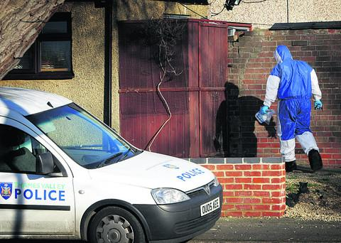 Police activity at the scene of the incident in Balfour Road in January
