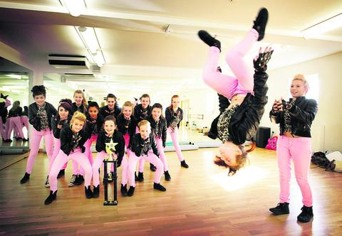 Flippin' great routine lands Pink Noize dancers a prize