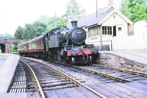 A train to Kingham at Chipping Norton station in 1962, just months before the branch line closed