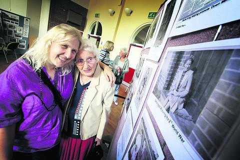 Filmmaker Sharon Woodward with Sadie King who features in the exhibition. Pictures: OX54344 Damian Halliwell