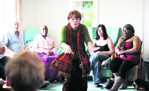 Janet Stansfeld, centre, has started a new community singing group at Alice and Margaret House in Rose Hill