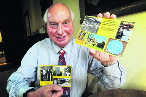 David Buxton with his Olympic postcards