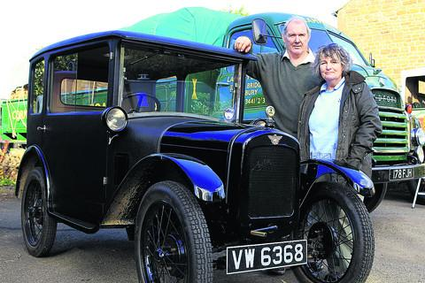 Robert and Jane Jervis with the 1928 Austin Seven which they restored themselves