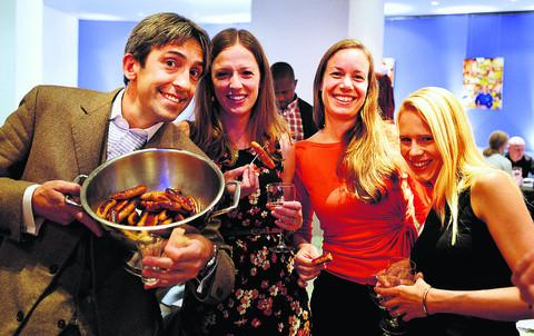 The Oxford Times: Big Bang owner Max Mason and guests at the restaurant's opening