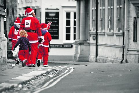 Drayton's Julian Mole, 36, took this picture on a society trip to Oxford's Santas on the Run charity event