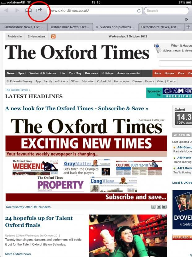 The Oxford Times: ot ipad 1