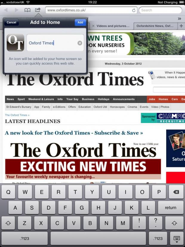 The Oxford Times: ot ipad 3