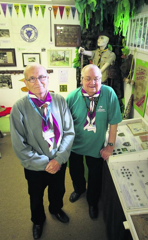 Youlbury Scout Museum curator Peter Slatter, right, and staff member Dave Carpenter at the museum