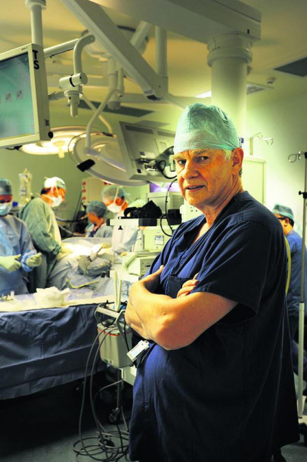 Surgeon David Cranston at the Churchill Hospital