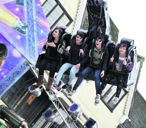 Youngsters enjoy a ride at the fair. Picture: Mark Hemsworth
