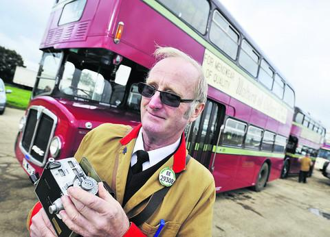 Derek Bloomfield with the 1967 AEC Renown double-decker