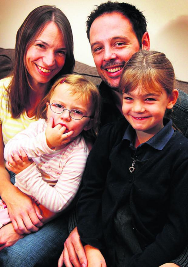 Left to right: Polly, Leanne, Tom and Evie Stafford