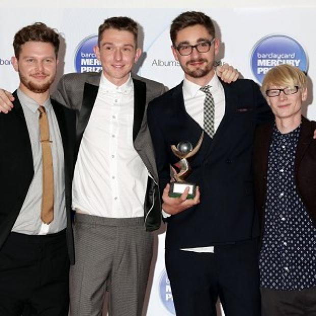 Joe Newman, Thom Green, Gus Unger-Hamilton and Gwil Sainsbury of Alt-J after they were announced as winners of the Mercury Prize