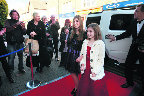 Sophie Collins, left, and Chloe Coker-Taney at the premiere of their first films