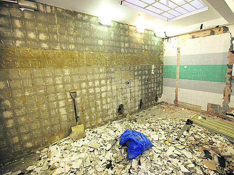 The Market Street toilets are undergoing a revamp