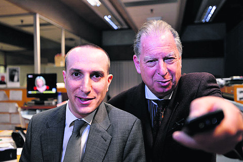 From left, Daniel Cass and Ed Simons are behind a new TV station in Oxfordshire, which could launch in 2014