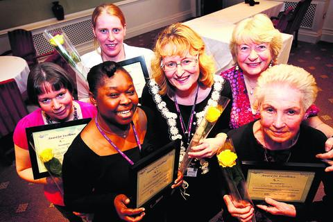 From left, Michelle Rogers, Adizat Olomoshua, Emma Sanders, Samantha Bell, Meg Barbour and Carole Whiteman