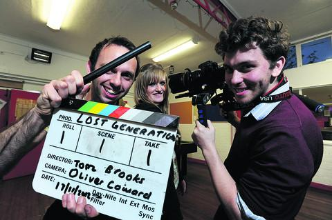 The Oxford Times: Director Tom Brooks, pictured left with actress Hannah Bayliss, 16, and cinematographer and co-producer Oliver Coward