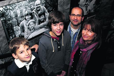 he Goodall family, from left, Leo, seven, Ben, 14, mum Alison and dad Colin with their photograph