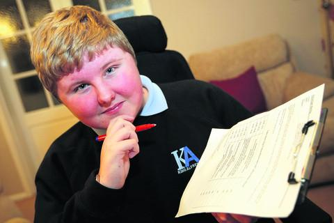 Sam Bailey, 15, will be helping to run things at Helen and Douglas House in Oxford