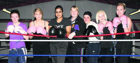 Left to right: Niamh McGuckin, Alishia McCann-Hill, Puja Thapar, coach Naomi Hill, Mickaela Machado, Chloe Gorringe and Emma Freeman