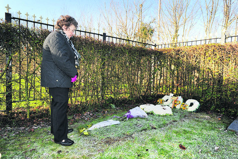 Widow's distress at grave problem