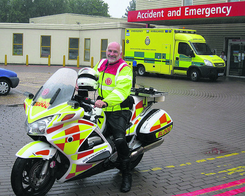 Blood biker John Stepney