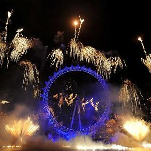 The Oxford Times: Fireworks over the London Eye, in central London, as part of the New Year celebrations