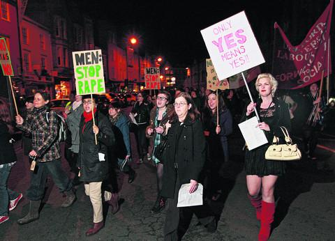 The Reclaim the Night march in 2011