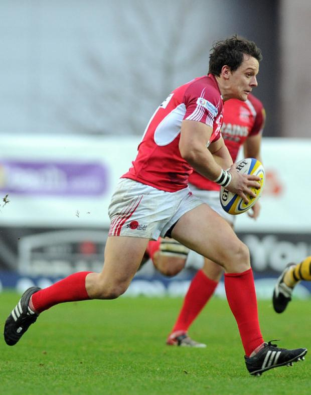 Rob Lewis, who is on loan from Cardiff Blues, keeps his place at scrum half against Harlequins