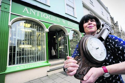 The Oxford Times: Caroline Henney outside the shop