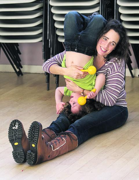 Rebecca Robinson and her three-year-old son Luca