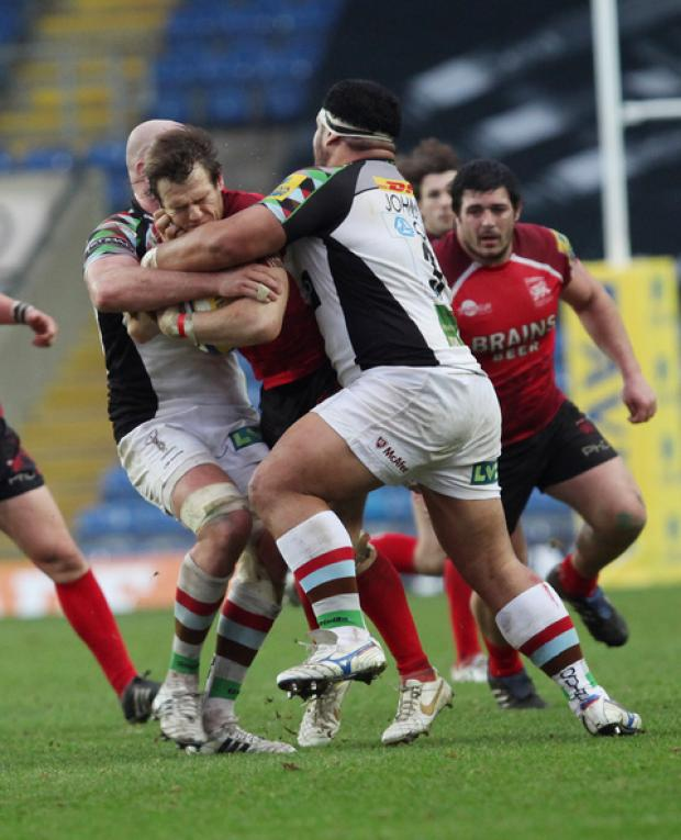 Seb Jewell typifies London Welsh's workrate against Harlequins