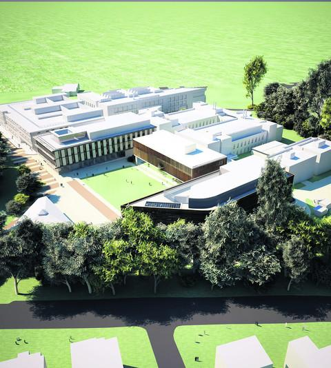 An artist's impression of what the new research facility will look like
