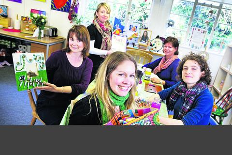Art Room managers, left to right: Catherine Sandford, Angela Stattersfield, Lisa Hancock, Clare Keep and Ali Avery