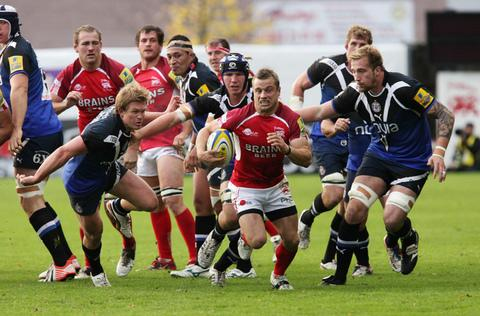 Scrum half Tyson Keats in action for London Welsh