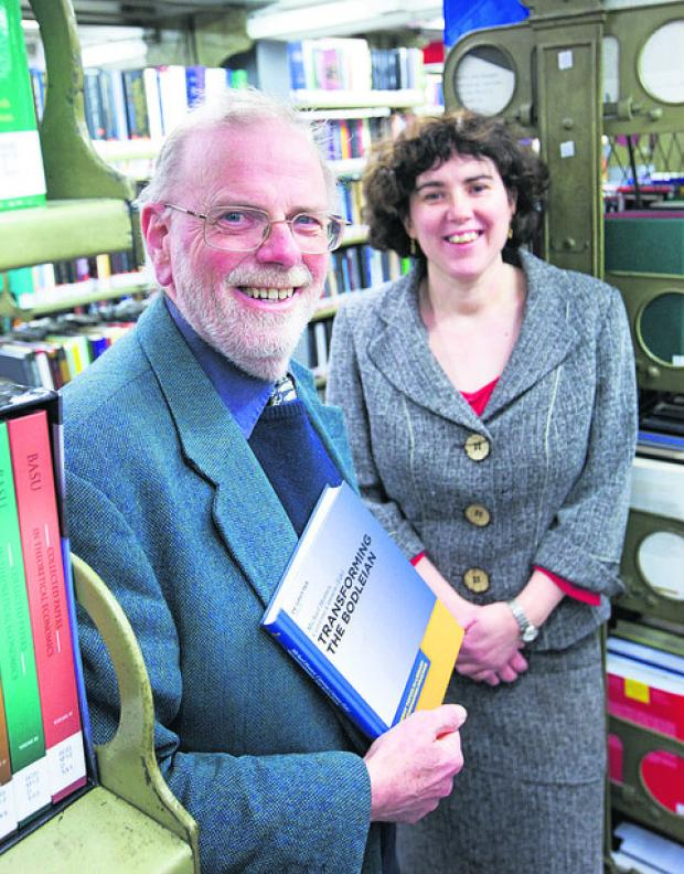 The Oxford Times: Editors Mike Heaney and Catriona Cannon with the new book