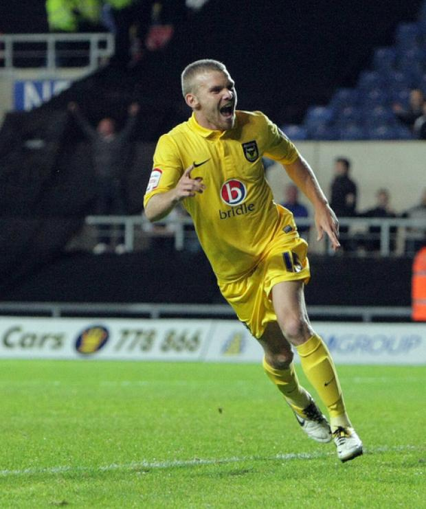 The Oxford Times: Alfie Potter nets a last-minute winner as Oxford dump rivals Swindon out of the Johnstone's Paint Trophy at the Kassam Stadium earlier this season