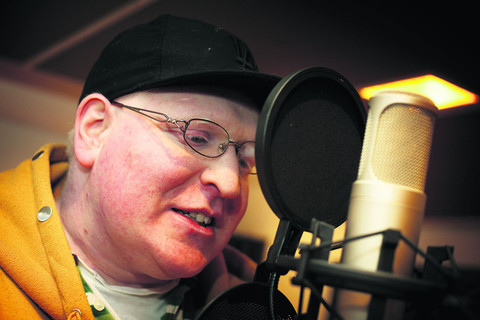 Albino rapper is star of the East