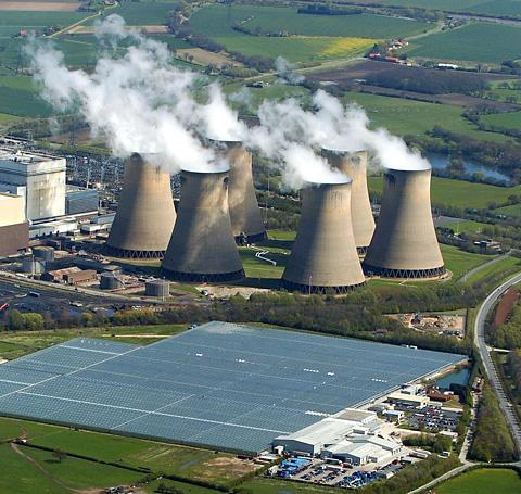 Drax Power Station in North Yorkshire