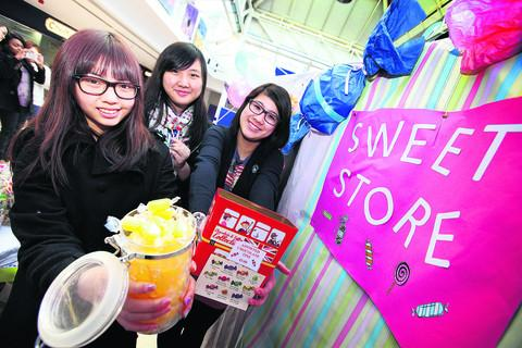 Doris He, 16, Zoe Ho, 17, and Jessie Lam, 17, of Rye St Antony School
