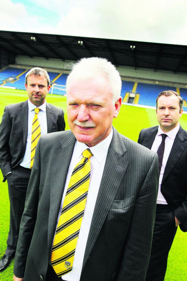 The Oxford Times: Ian Lenagan with sons Simon (left) and Adrian, who make up Oxford United's board