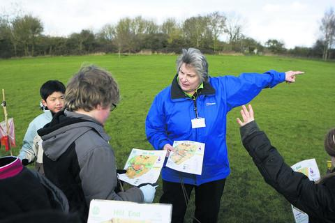 The Oxford Times: Teacher Jan Harding with children from St Thomas More School, Kidlington