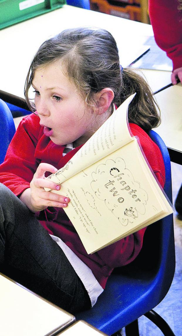 Longworth Primary School pupil Amy Bowers