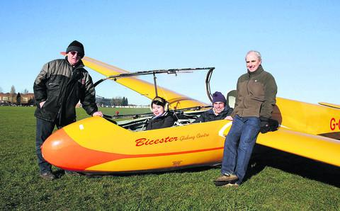 From left, Windrushers Gliding Club's Alan Smith, Qin Cao, George Tvalashvili and Bob King